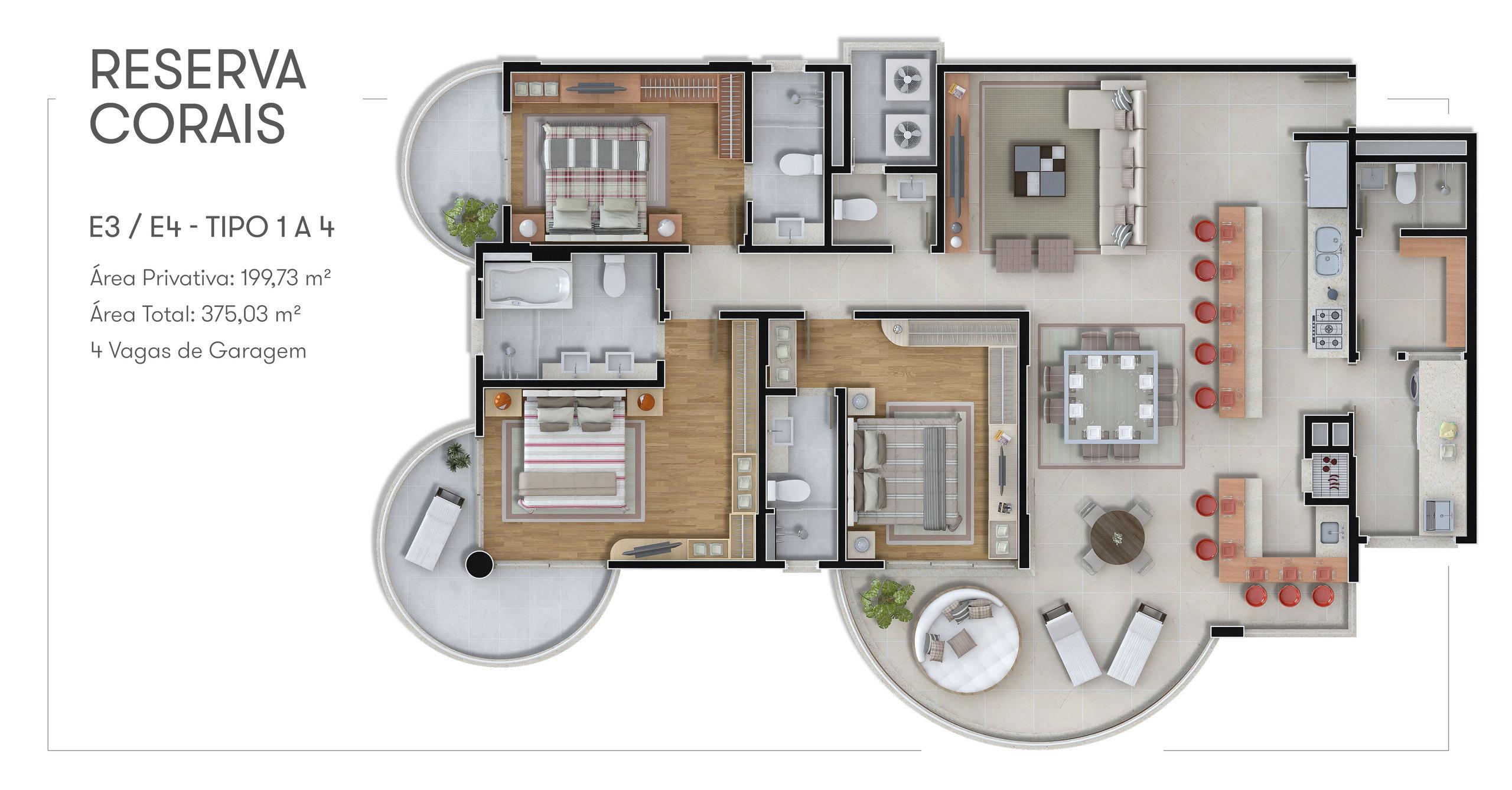 Reserva Corais - Apartamento Tipo